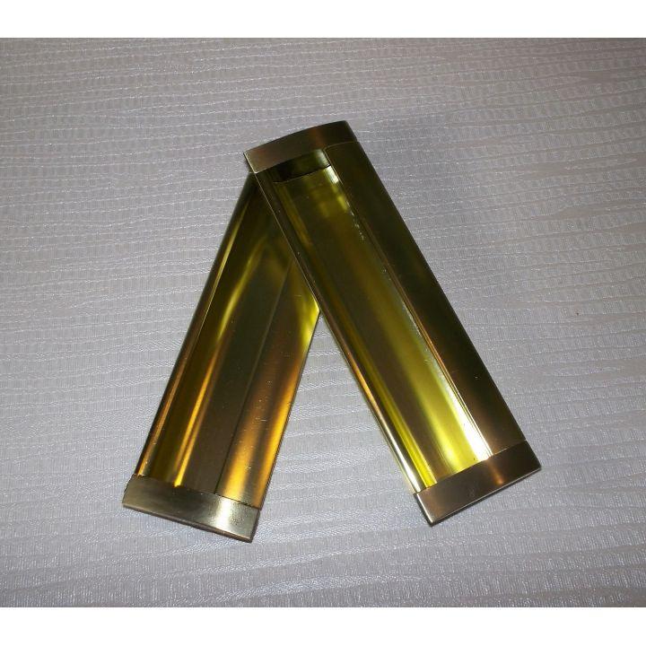Ручка врезная шкаф купе UA 08 - 128мм Мат.Золото