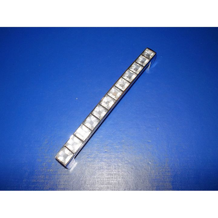 Мебельная ручка с стразиками 128мм Хром