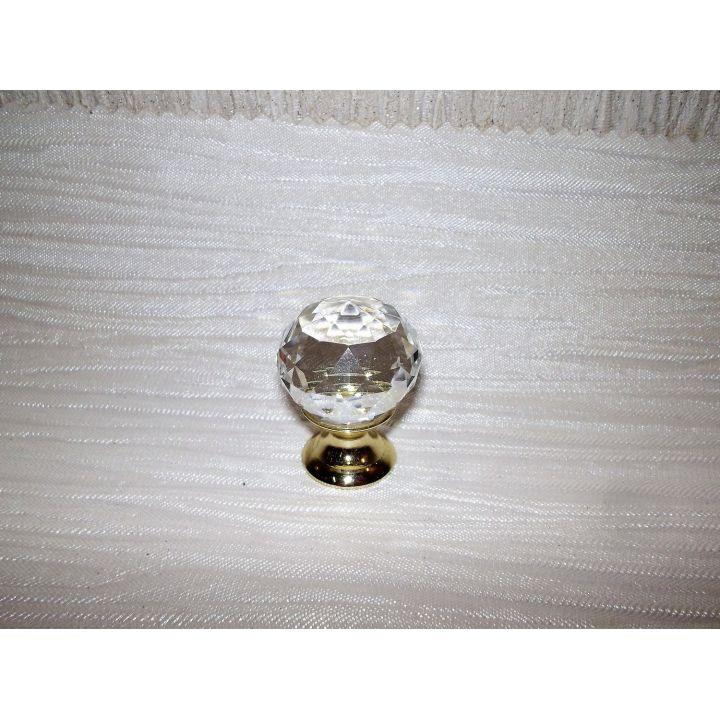 Мебельная ручка Хрустальный шарик 25мм Золото