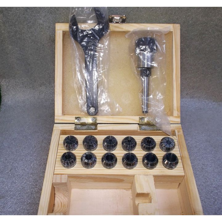Комплект цанг ER20 / 2-13мм + патрон конус Морзе MK1