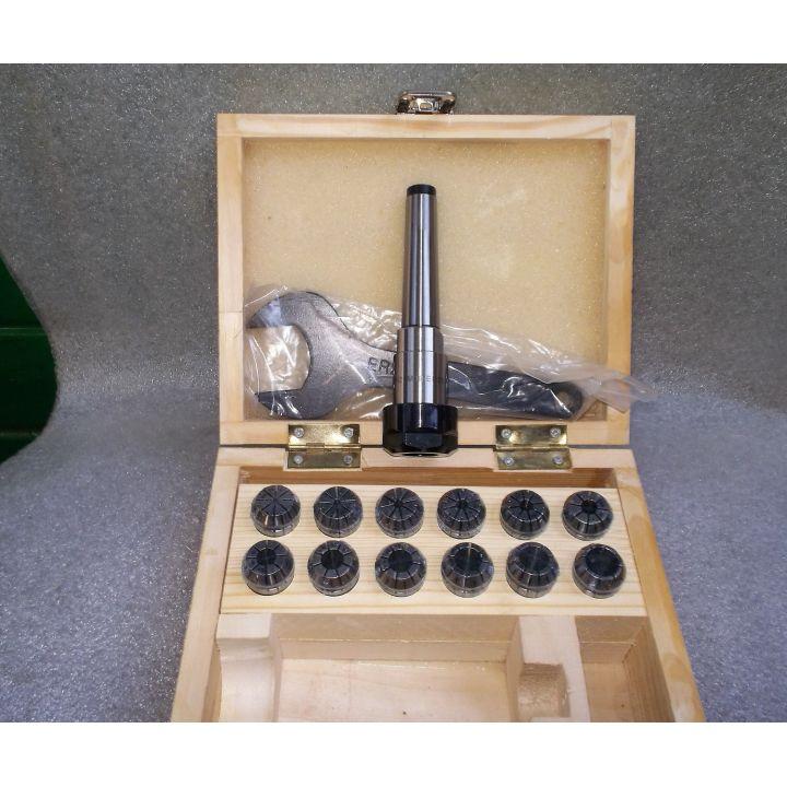 Комплект цанг ER20 / 2-13мм + патрон конус Морзе MK2